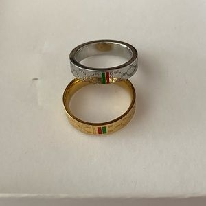 Gold plated gg rings in gold and silver